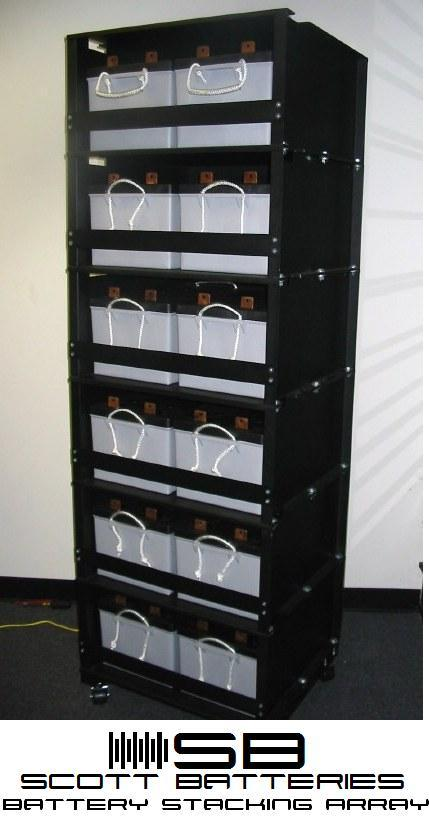 Modular Battery Stacking Array for 4D and 8D Batteries from Scott Batteries Co.
